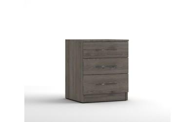 Нощно шкафче с три чекмеджета МОД 12 - Дъб Давос Трюфел - 50 см.