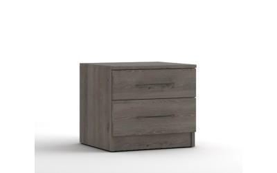 Нощно шкафче с две чекмеджета МОД 13 - Дъб Давос Трюфел - 50 см.