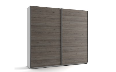 Среден гардероб с две плъзгащи врати МОД 7 - Дъб Давос Трюфел - 240 см.