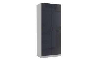 Двукрилен гардероб МОД 2 - МДФ Антрацит гланц - 90 см.