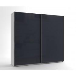 Среден гардероб с две плъзгащи врати МОД 7 - МДФ Антрацит гланц - 240 см.