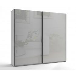 Среден гардероб с две плъзгащи врати МОД 7 - МДФ Бял гланц - 240 см.