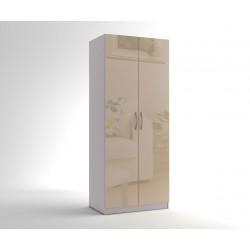 Двукрилен гардероб МОД 2 - МДФ Крем гланц - 90 см.
