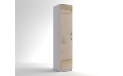 Еднокрилен гардероб МОД 1 - МДФ Крем гланц - 45 см.