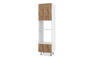 Колонен кухненски шкаф Хит М14 Амалфи за вграждане на фурна и микровълнова фурна - 60 см.