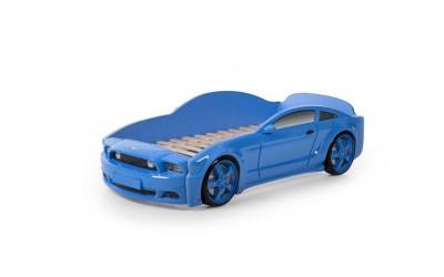 Легло - кола модел МУСТАНГ LIGHT 3D в синьо