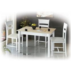 Комплект неразтегателна маса Албена и столове Томи