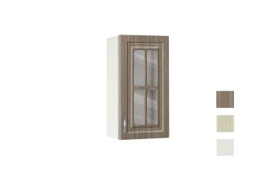 Горен шкаф с витрина Винтидж 40 В