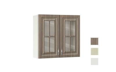 Горен шкаф с витрини Винтидж 80 В