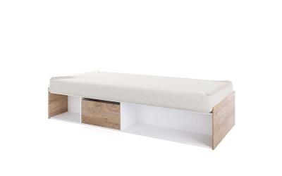 Детско легло Класик 951 - 90/200 - Дъб суров/Бяло гладко