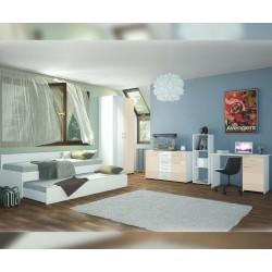 Детска стая Ава 1 - крем гланц/бяло гланц/бяло