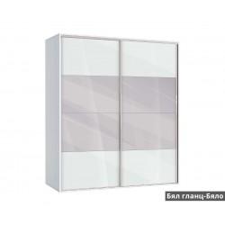 Гардероб Ава 51 с плъзгащи врати и огледала - корпус бяло