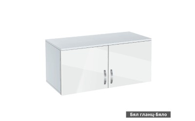 Надстройка за двукрилен гардероб Ава 2 - корпус бяло