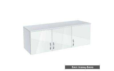 Надстройка за трикрилен гардероб Ава 3 - корпус бяло