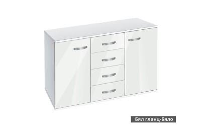 Скрин с врати и чекмеджета Ава 1200 - корпус бяло