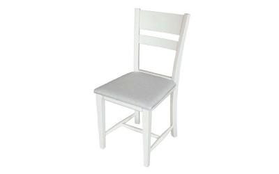 Стол Томи с тапицерия - Бял