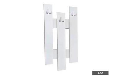 """Стенна закачалка """"3"""" - бяло"""