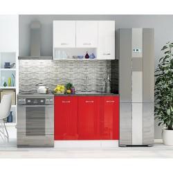 Готова кухня Алис 1 - Червено / Бяло гланц