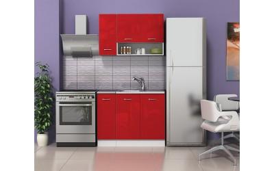 Кухненски комплект Алис 1 - Червено гланц