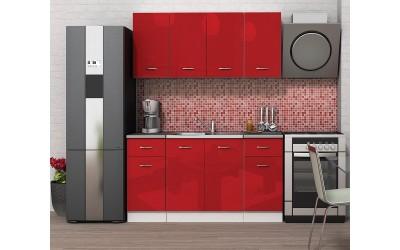 Кухненски комплект Алис 9 - Червен гланц