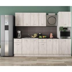 Готова кухня Хавана 20 - Дъб бланко/ Бяло