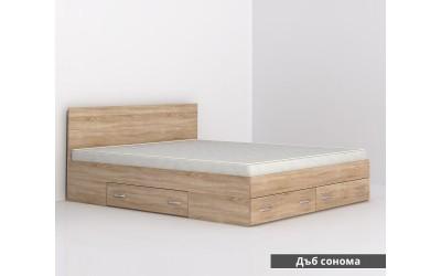 Легло с чекмеджета Аполо 10 - дъб сонома