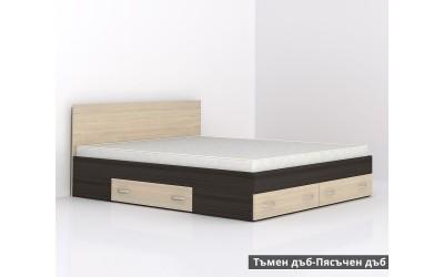 Легло с чекмеджета Аполо 10 - тъмен дъб/пясъчен дъб