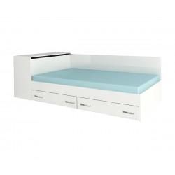 Легло Анди с чекмеджета 120/190 - Бяло гланц