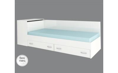Легло Анди с чекмеджета - Бяло гланц