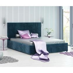 Тапицирано легло Велато - с 4 чекмеджета - Дамаска Велуто Блу