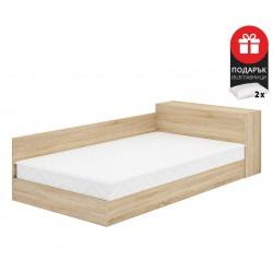 Легло Приста Мареа 1 120/190 - Дъб сонома - с включен матрак и възглавници