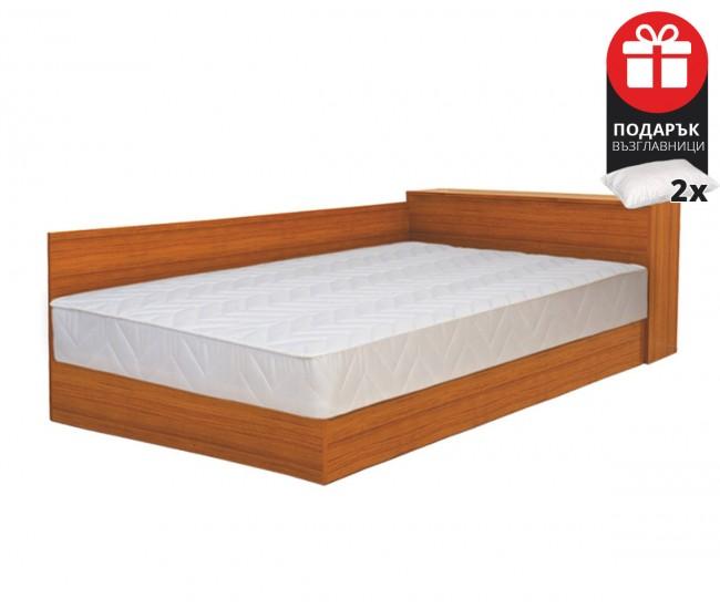 Легло Приста Мареа 1 120/190 - Орех - с включен матрак и възглавници