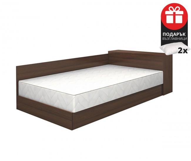 Легло Приста Мареа 1 120/190 - Венге амбър - с включен матрак и възглавници