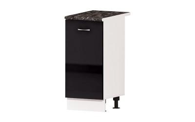 Долен кухненски шкаф Алис B5 с врата и рафт - черен гланц - 40 см.