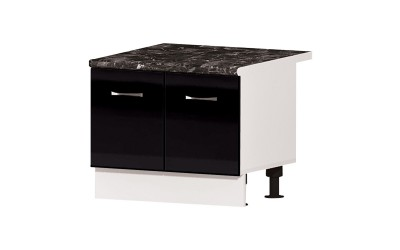 """Долен кухненски шкаф за печка """"Раховец"""" Алис B50 - черен гланц - 60 см."""