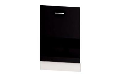 Врата за вградена съдомиялна Алис B65 - черен гланц - 60 см.