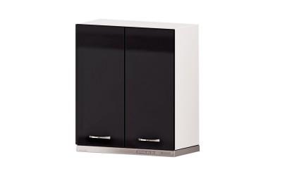 Горен кухненски шкаф Алис G17 за аспиратор - черен гланц - 60 см.