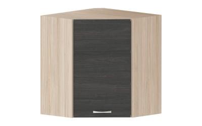 Горен кухненски шкаф Дорина G14 ъглов с една врата - дъб карбон/рокфорд лайт - 60 см.