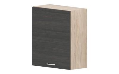 Горен кухненски шкаф Дорина G16 с една врата - дъб карбон/рокфорд лайт - 60 см.