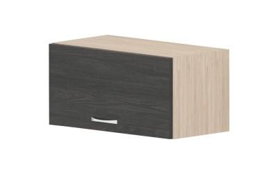 Горен кухненски шкаф Дорина G20 с една клапваща врата - дъб карбон/рокфорд лайт - 60 см.