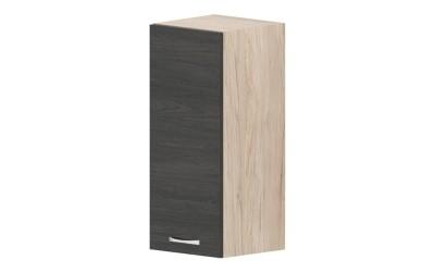 Горен кухненски шкаф Дорина G23 с една врата - дъб карбон/рокфорд лайт - 30 см.