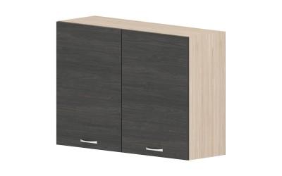 Горен кухненски шкаф Дорина G28 с две врати - дъб карбон/рокфорд лайт - 100 см.