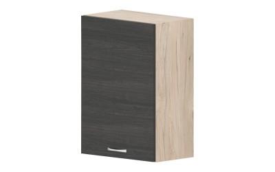 Горен кухненски шкаф Дорина G30 с една врата - дъб карбон/рокфорд лайт - 50 см.