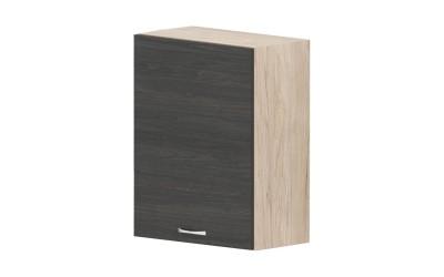 Горен кухненски шкаф Дорина G80 с една врата - дъб карбон/рокфорд лайт - 55 см.