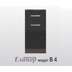 Долен кухненски шкаф с чекмедже и врата Елинор В4 40 см.