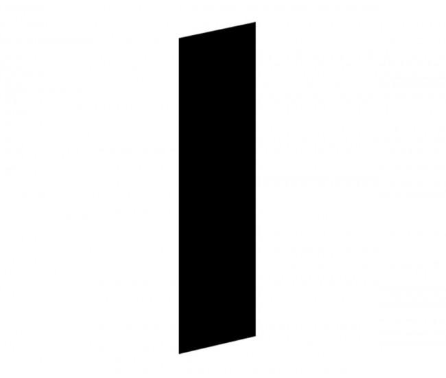 Долен краен кухненски панел Елинор В56 - МДФ черно гланц