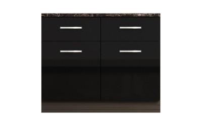 Долен кухненски шкаф с две чекмеджета и две врати Елинор В63 МДФ - 100 см.