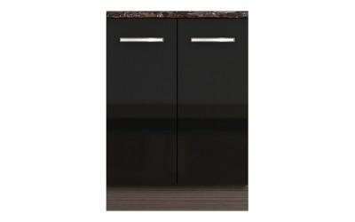 Долен кухненски шкаф с две врати Елинор В68 МДФ за мивка - 60 см.