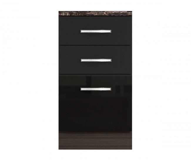 Долен кухненски шкаф с чекмеджета и врата Елинор В76 МДФ - 45 см.