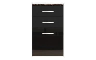 Долен кухненски шкаф с чекмеджета и врата Елинор В77 МДФ - 50 см.